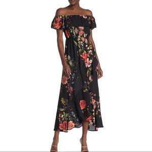 Bailey Blue $70 Floral Off The Shoulder Maxi Dress